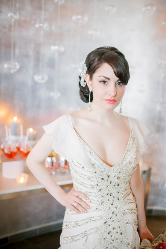 Hollywood glamor bridal gown